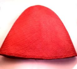 Ruby Red Straw Parasisal Straw Hood or Cone Hat Body
